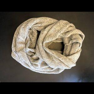 """Loft infinity scarf ; gray open weave; 64"""""""